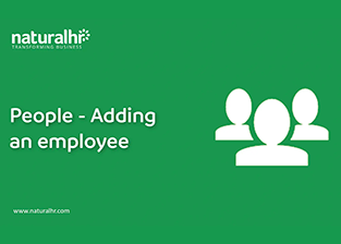 People – Adding an employee