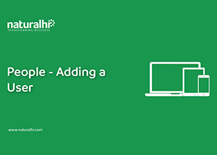 People – Adding a  user