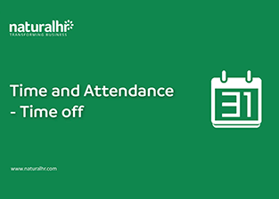 Time and attendance – Time off